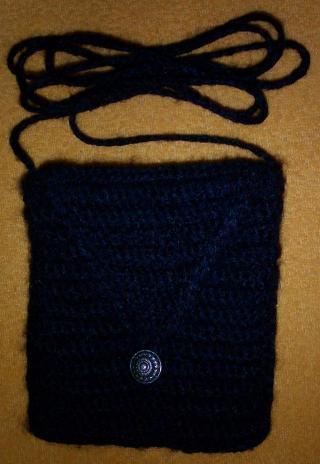 Černá háčkovaná kabelka - návod